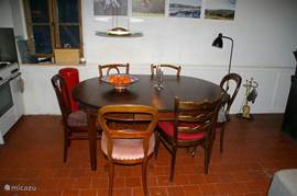 The dining table: large antique table