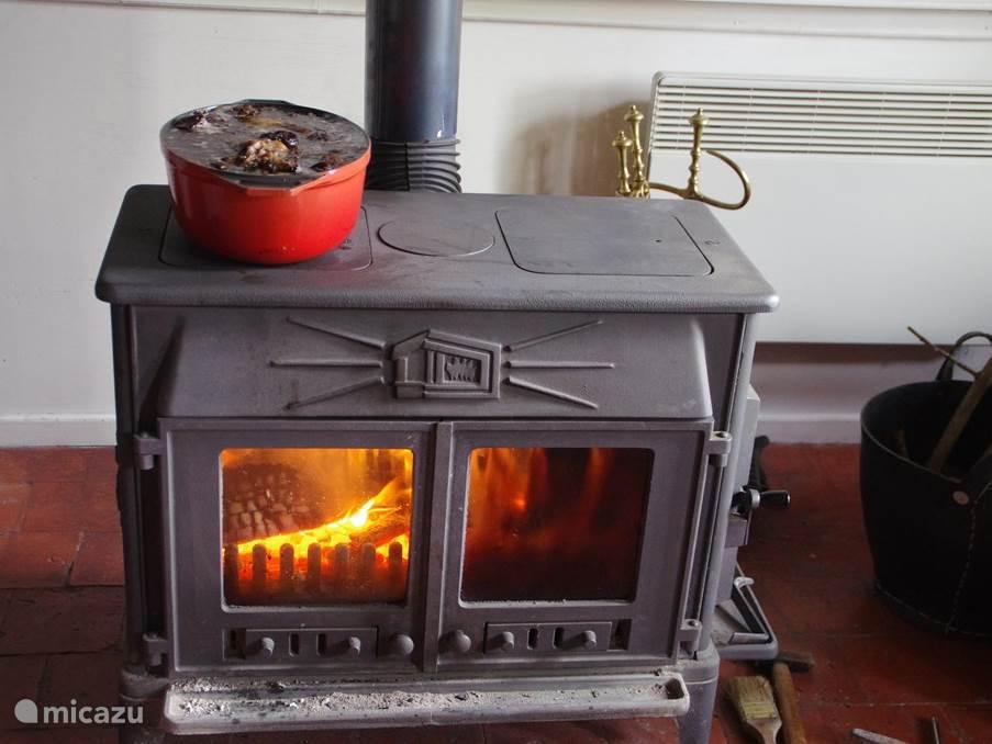 Holzofen für kühle Abende