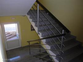 The stairwell of the apartment.