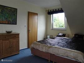 Bedroom 4 also has access to the large balcony with beautiful views of the highest mountain of the Sauerland, the Khler attack