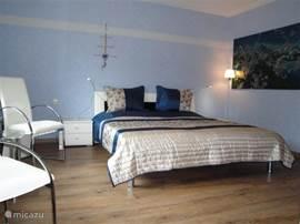 De blauwe slaapkamer, ook wel de chinese kamer genoemd.