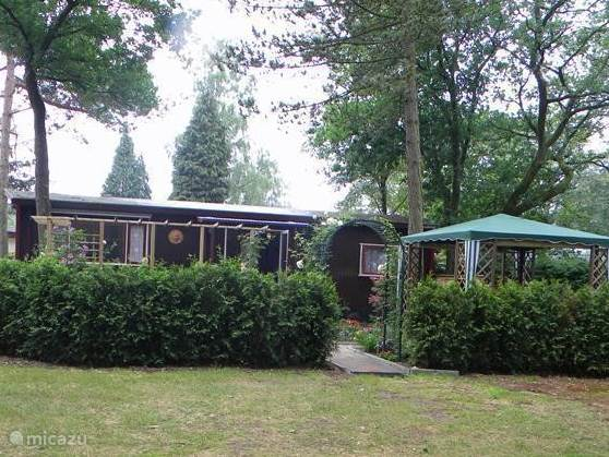 Front View of the chalet with a gazebo.