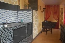 Keuken in het beneden appartement