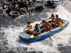 Rafting on the Vltava river, suitable for young and old