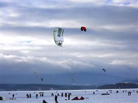 In winter, the frozen Lipno 'the place to be'