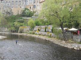 Also in Cesky Krumlov is fished by locals trout ....