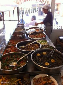 Restaurant Zekiriya in Datca. Hier wordt het echte home-made food gemaakt. Heerlijk en zeer betaalbaar.