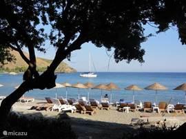 Datca heeft drie schitterende baaien met zandstranden. Eén daarvan is Ovabükü (bükü=baai). Ovabükü is de rustigste van de drie.