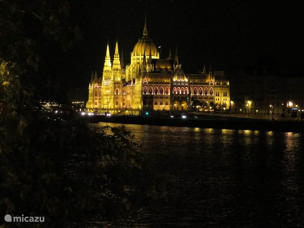 zicht vanop de Donau op het mooiste parlement van Europa?