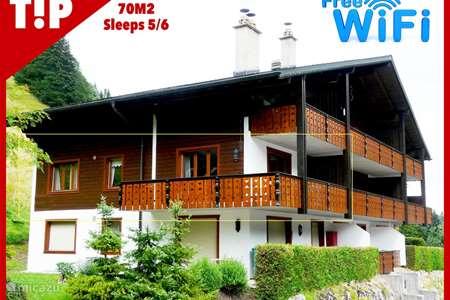 Vakantiehuis Zwitserland – appartement 3-km Appt+Wifi. Meerdere wisseldagen
