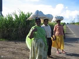 Vrouwen op weg naar het werk