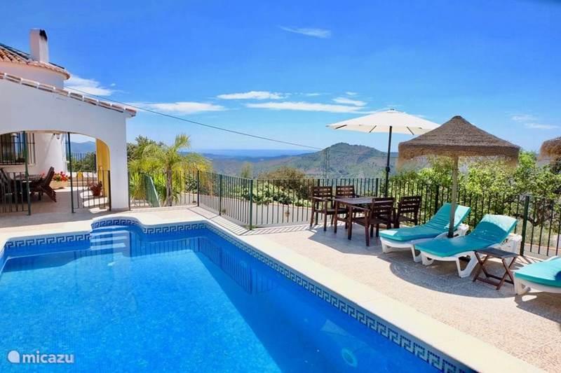 Vakantiehuis Spanje, Costa del Sol, Comares Villa Villa Miraflores + Zwembad Comares