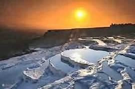 Zonsondergang in Pamukkale