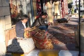 Een tapijt is in Uçhisar klaar terwijl u wacht.