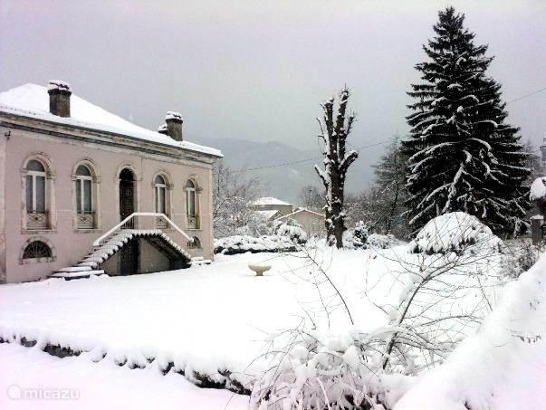 De woning in wintertijd