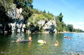 Canoeing in the Ardeche