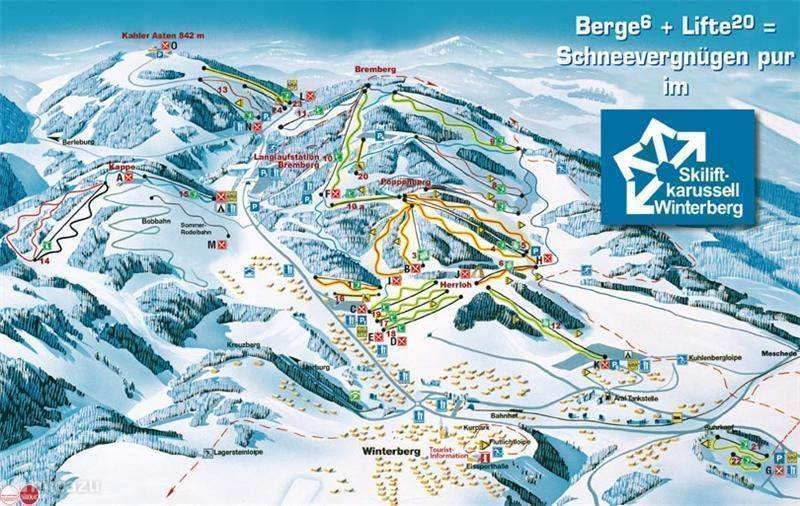 The ski area of ??Winterberg.