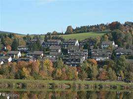 Apartments from Hillebachsee seen.