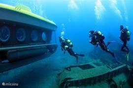 Maar ook voor duikers is het een paradijs. ( zie de reportage in het duikmagazine van Rutger Geerling op internet!)