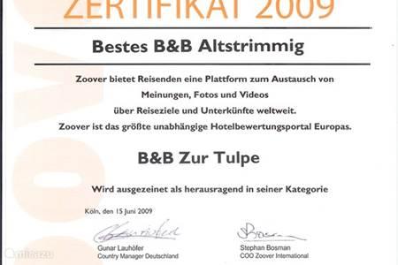 Zur Tulpe Zoover Award winnaar met beoordeling 9.1  !