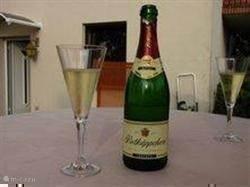 Fles Sekt of wijn voor u.....