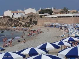 Na zo'n drie kwartier varen arriveert u op een authentiek Spaans eiland met een heerlijk strand en superhelder water, veel terrassen en lekker eten.