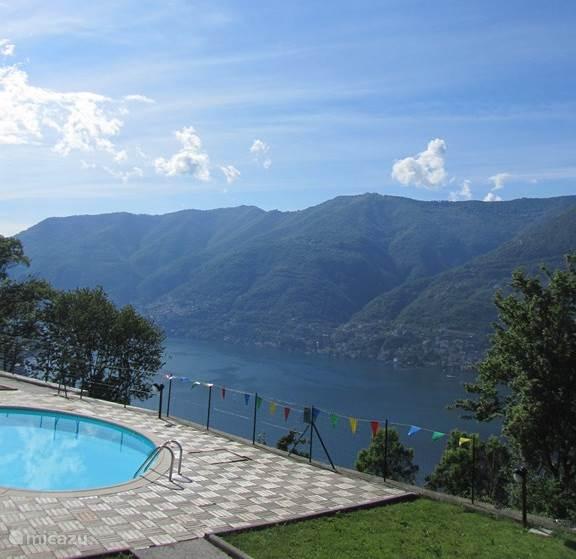 Zwembad en uitzicht over het Comomeer