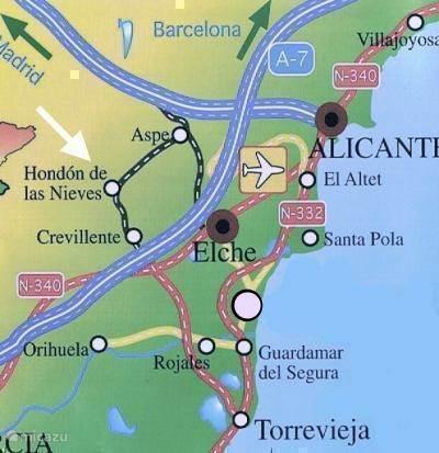 4. Routebeschrijving vanaf en naar de luchhaven van Alicante