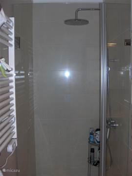 Badkamer met (inloop)douche.