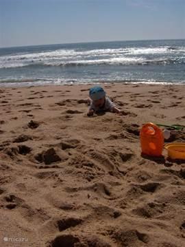 Praia do Algodio (250 meter lopen van ons huis).