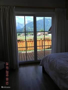 From the master bedroom with large balcony there is a beautiful view of the mountains.