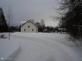 In de winter. Foto van het huis in februari 2010.