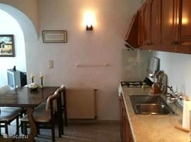 Foto keuken van de zijkant