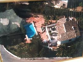 Luchtfoto van de villa