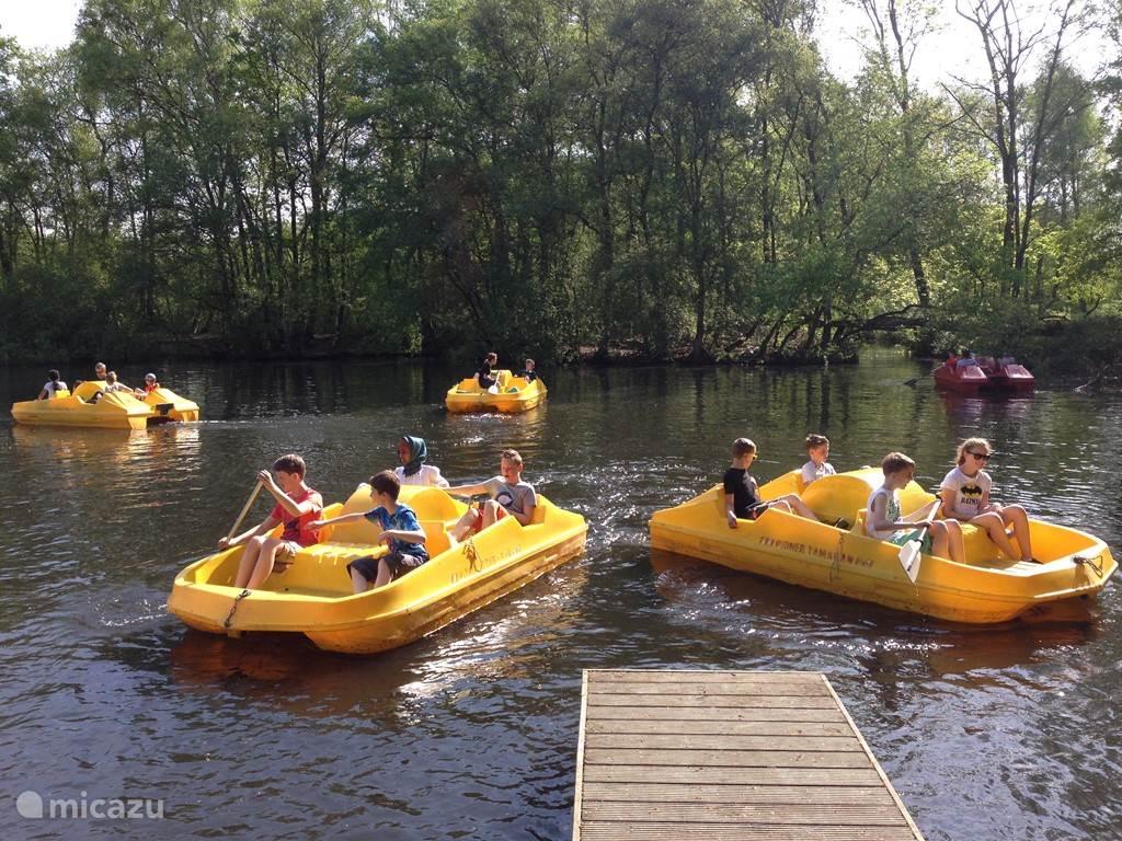 Waterfietsen in Natuurpark de Leemputten