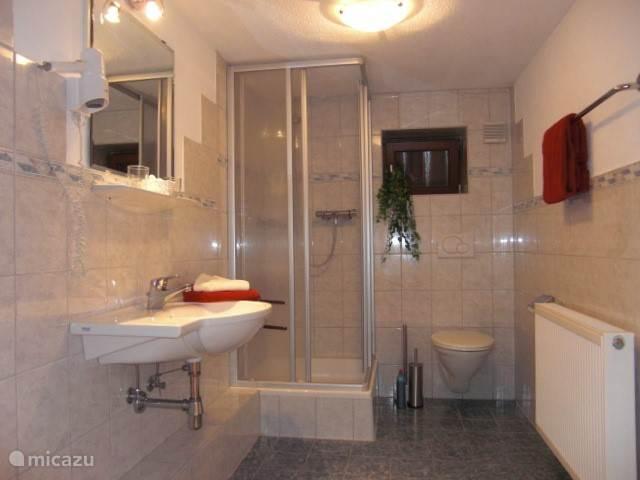 Eén van de vele badkamers