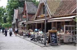 Terassen en biologische markt in Bergen