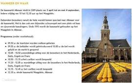 De beroemde kaasmarkt van Alkmaar