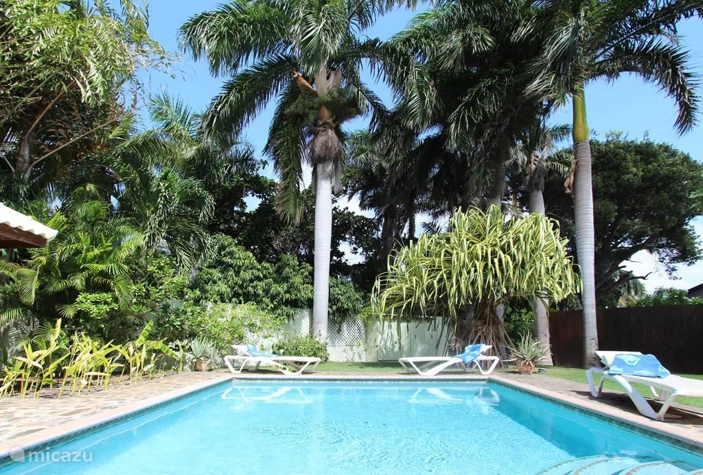Tropische tuin met complete privacy