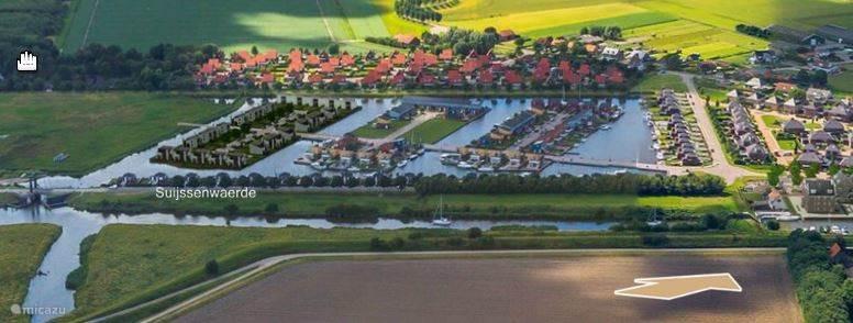 Foto van het gehele park vanuit de lucht genomen.
