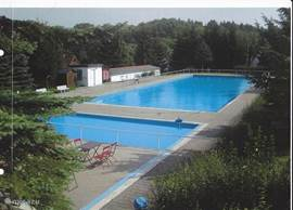Outdoor swimming pool, 200 meters away