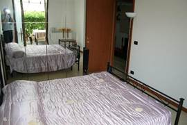 The bedroom with large bed 2p