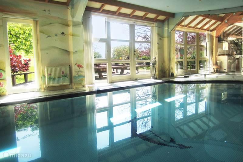 Vacation rental Netherlands, Groningen, Westerwolde Manor / Castle House Iris, with private indoor pool
