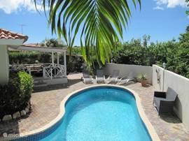 Volop genieten van alle luxe en comfort. Groot privé zwembad met tropische tuin