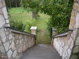 Stairs to front yard