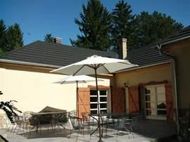 Sunny terrace at the rear