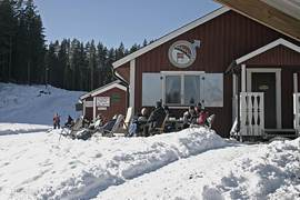 Ski huisje bij de ski-piste van Filipstad