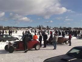 Raly op het bevroren meer van Filipstad
