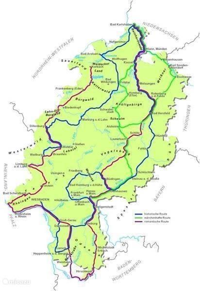 De mooiste routes door Hessen