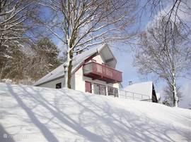 Huisje in de winter